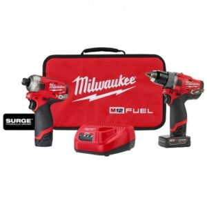 MILWAUKEE 2582-22 12V M12 FUEL SURGE DRIVER 1/2 INCH DRILL 2 PIECE COMBO