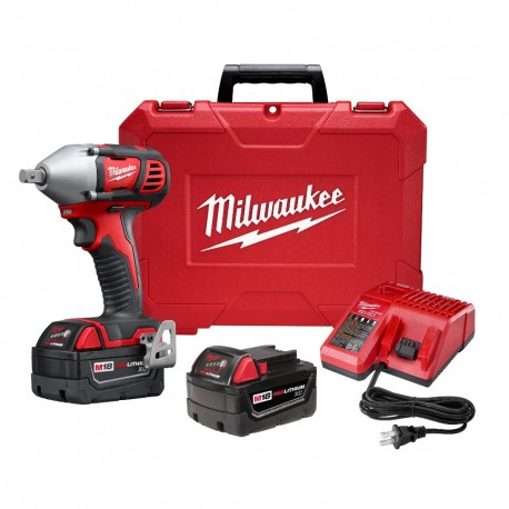 MILWAUKEE 2659-22 M18 18-VOLT 1/2-INCH IMPACT WRENCH W/ BATTERIES