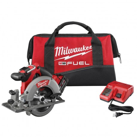 MILWAUKEE 2730-21 18-VOLT 6-1/2-INCH 5.0AH M18 FUEL CORDLESS CIRCULAR SAW KIT