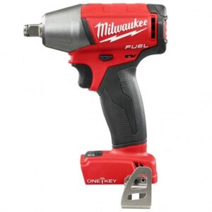 """MILWAUKEE 2759B-20 M18 FUEL 18V 1/2"""" COMPACT IMPACT WRENCH KIT W/ CLIP & ONE KEY - BARE TOOL"""