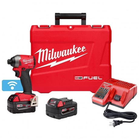 MILWAUKEE 2857-22 M18 FUEL 18-VOLT 1/4-INCH XC HEX IMPACT DRIVER KIT