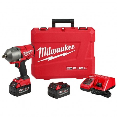 MILWAUKEE 2862-22 18-VOLT 1/2-INCH PIN DETENT HIGH TORQUE IMPACT WRENCH KIT