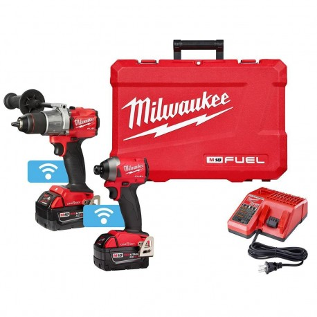 MILWAUKEE 2996-22 M18 FUEL 18-VOLT HAMMER DRILL AND IMPACT DRIVER COMBO KIT
