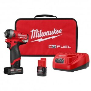 MILWAUKEE M12 2552-22 12-VOLT FUEL 1/4-INCH CORDLESS STUBBY IMPACT WRENCH KIT